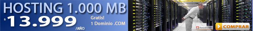 Hosting 400 MB + Dominio gratis .COM/ .NET/ .ORG/ .INFO $5.599 anual